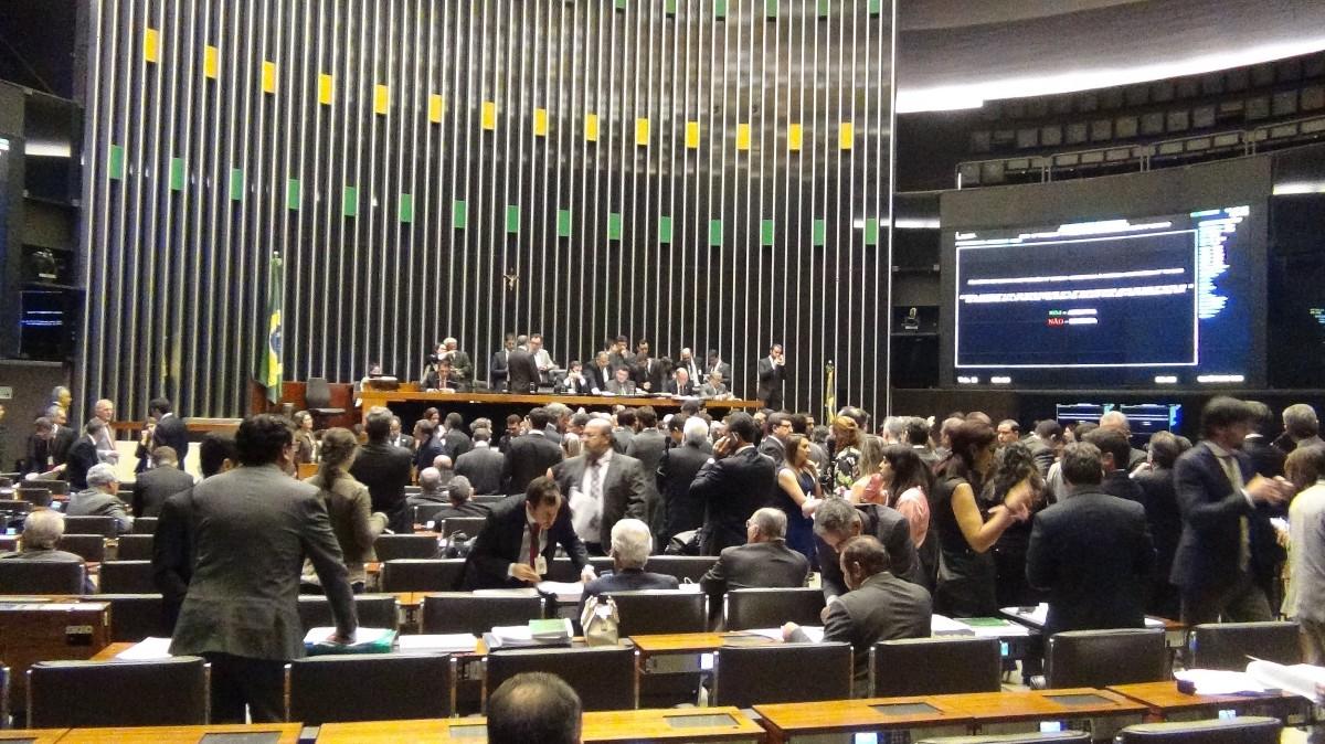 Sessão plenária da Câmara dos Deputados
