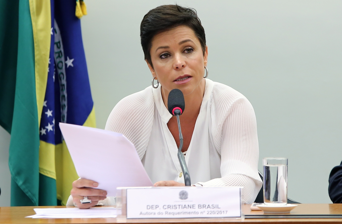 Deputada federal Cristiane Brasil, nova ministra do Trabalho