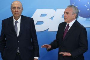Ministro da Fazenda, Henrique Meirelles, e o presidente Michel Temer